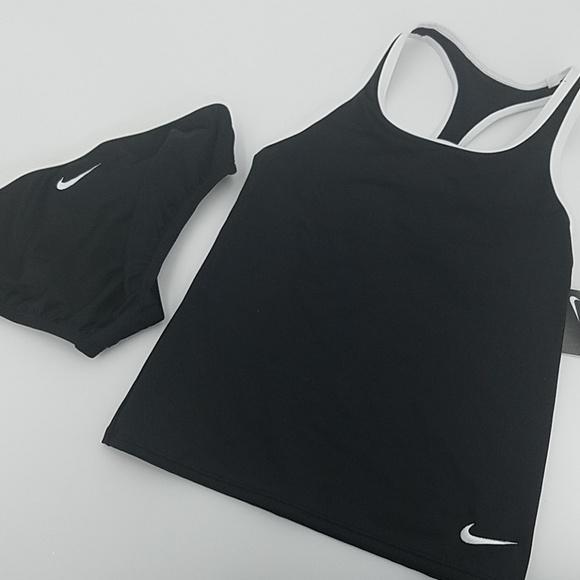 8b9023c09f Girls  Nike Core Solid Racerback Two Piece Tankini NWT